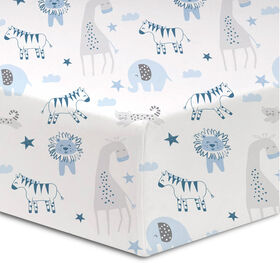Koala Baby - Flannel 1 Pack Safari Crib Sheet