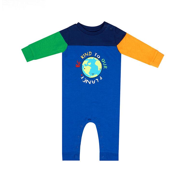 Earth by Art & Eden - Combinaison Mike aux couleurs contrastées - Bleu, 6 mois