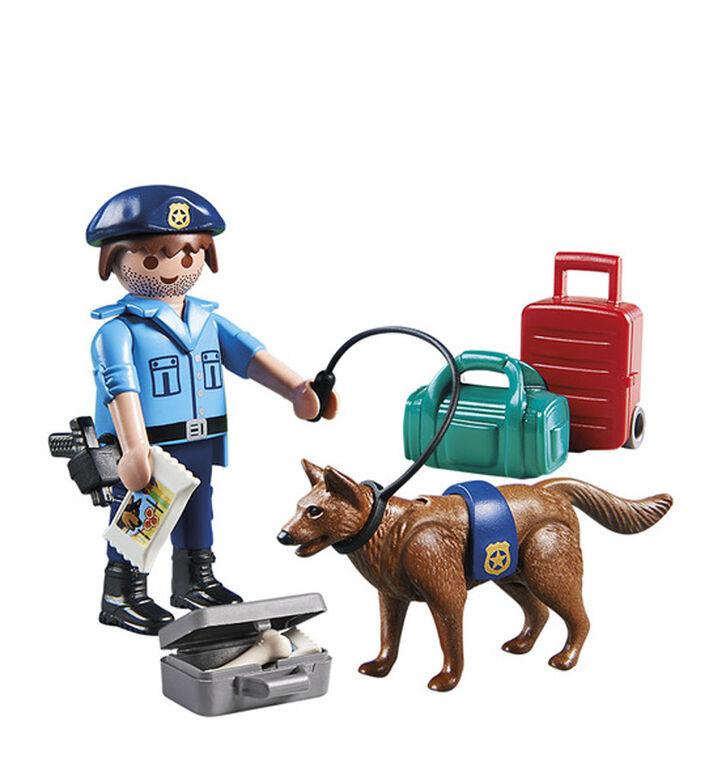 Playmobil Policeman with dog 70085