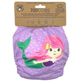 Zoocchini - Cloth Diaper & 2 Inserts - Mermaid - One Size - 7-35 lbs