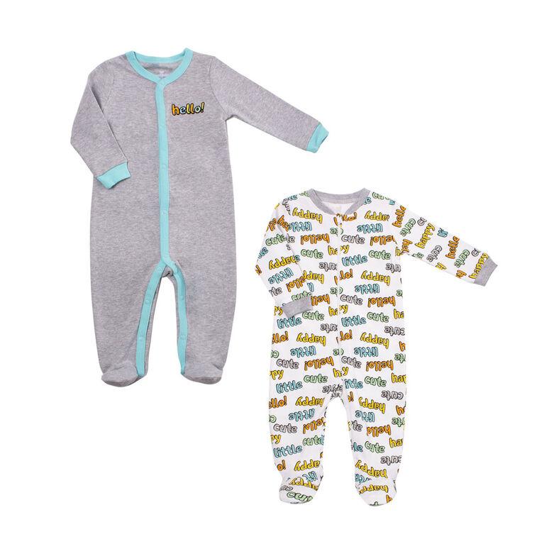 Koala Baby Unisex 2-Pack Sleeper- Hello  Newborn
