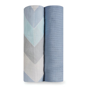 Langes silky soft de aden by aden + anais - ziggy blue.