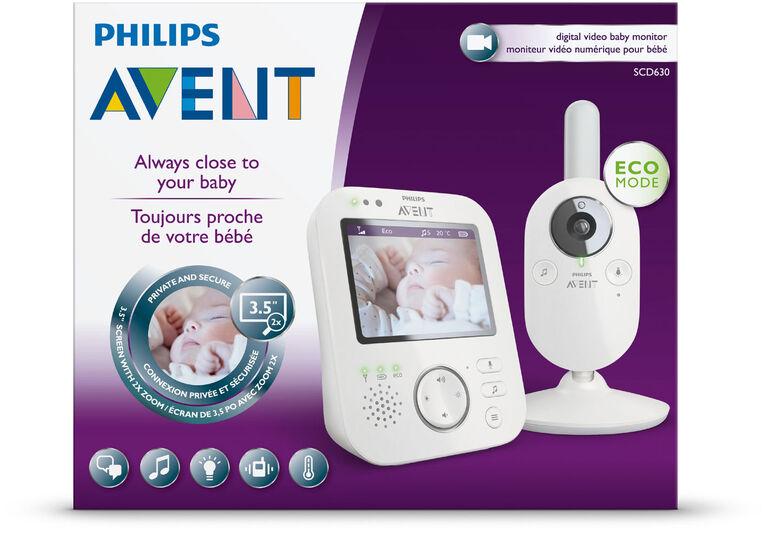 Moniteur vidéo numérique pour bébé Philips Avent, SCD630/37.