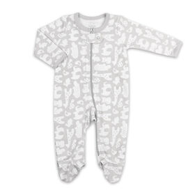 Koala Baby Sleeper - Grey Animal Allover Print, Newborn
