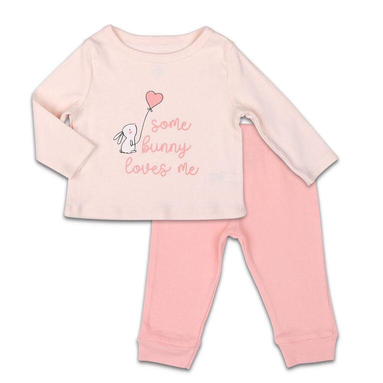 Ensemble chemise et pantalon Koala Baby Dream Girl, Some Bunny Love Me - 12 Mois