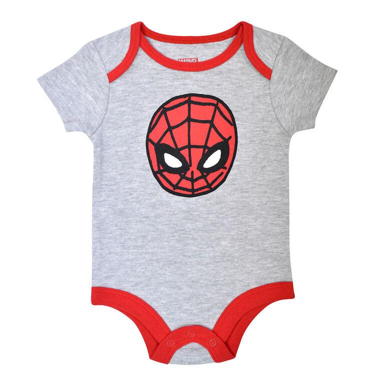 Marvel Spiderman Bodysuit - Grey, 6 months