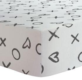 Kushies - Drap Contour pour Table à Langer - XO Noir.