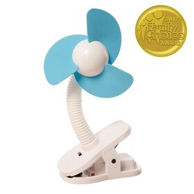 Dreambaby Clip On Stroller Fan - Blue