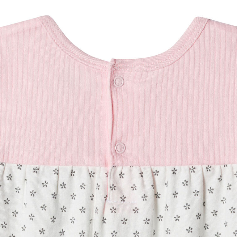 Just Born Baby Girls' 2-Piece Organic Tunic and Pant Set - Lil' Lamb 0-3 months