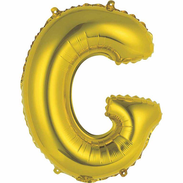 """14"""" Gold Letter Balloons - G"""