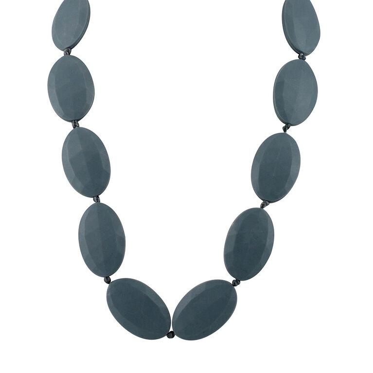 Collier de dentition a perles plates de Nuby - Gris
