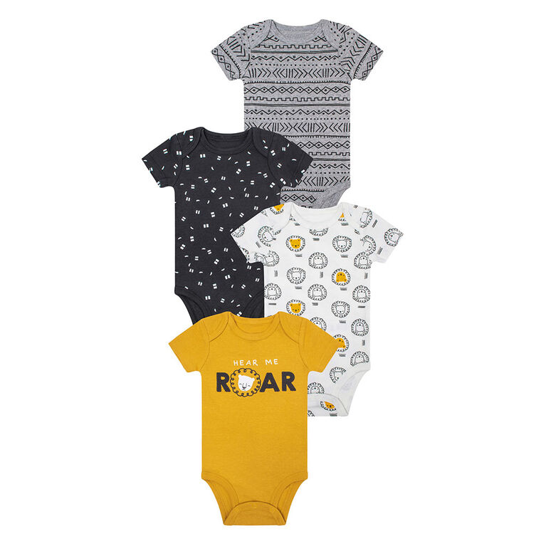 PL Baby Safari  Diaper Shirts 4pk Golden Yellow 6M