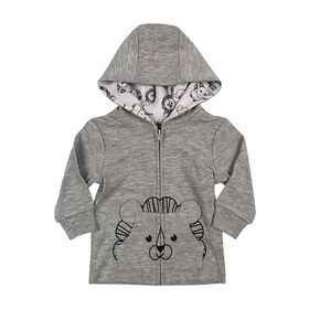 Fisher-Price Cardigan à capuche - Gris, 3 mois