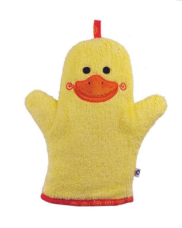 Gant de toilette Zoocchini - Puddles le canard.