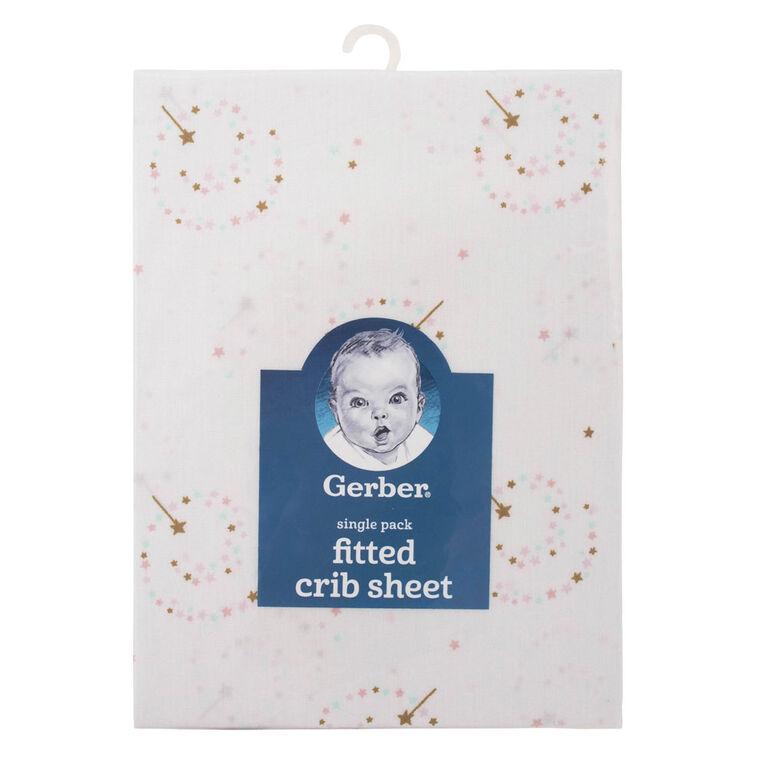 Gerber Fitted Crib Sheet Fairy Wand