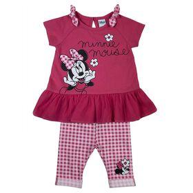 Disney Minnie Mouse 2-Piece Tunic and Capri Set - Pink, 12 Months