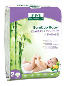 Aleva Naturals Bamboo Baby Diapers, 30 Count - Size 2