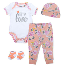 Baby Essentials Little Love - 4-Piece Layette Set - English Edition