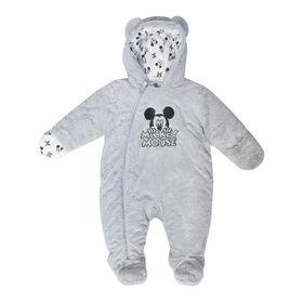 Disney Mickey Mousse Combinaison d'hiver  en fausse fourrure - bleu, 6/12 Mois