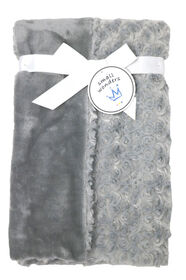 Small Wonders Plush Rosette Blanket - Grey