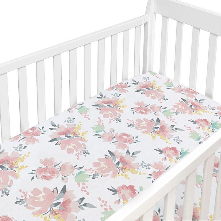Dream Crib Sheet - Watercolor Flower
