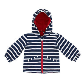 Northpeak Baby Boys Fashion Jacket- Marine Blue Stripes - 24 Months