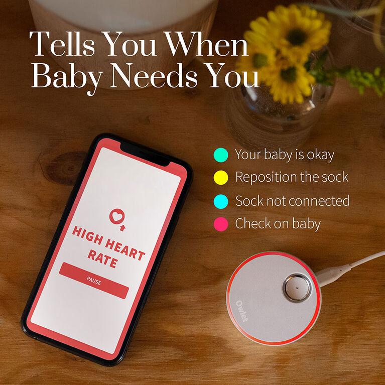 Owlet Smart Sock 3 with Dusty Rose Sock