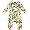 earth by art & eden - Cole Printed Zip Coverall - Whisper White Multi, 6 Months