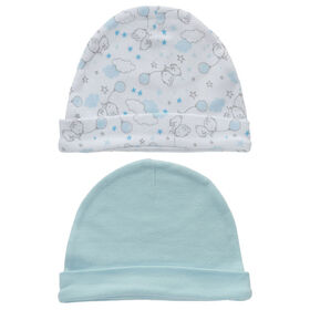 Koala Baby 2-Pack Hat Set - Blue Bear