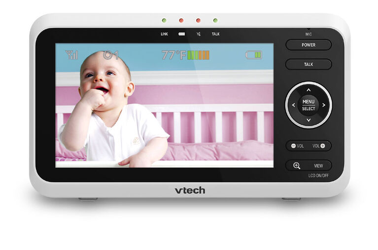 """VTech VM350-2 5"""" Digital Video Baby Monitor with 2 Cameras and Automatic Night Vision - White"""