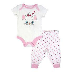 Disney Marie ensemble 2 pièces Cache couches et pantalon - Rose, 12 mois