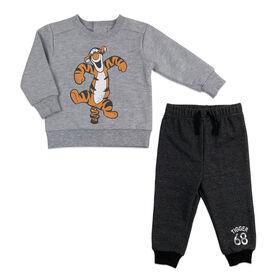 Disney Tigger Fleece pant set - Grey, 9 Months