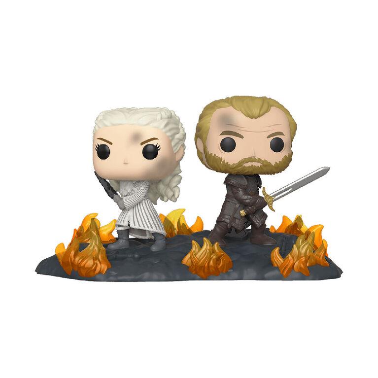 Figurine en Vinyle Daenerys et Jorah B2B Avec Swords Par Funko POP! Game of Thrones
