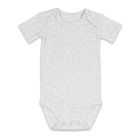 Body bébé à manches courtes Koala Baby - Gris chiné, 3-6 mois