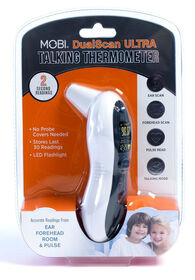 MOBI DualScan Ultra-Pulse Ear & Forehead Thermometer.
