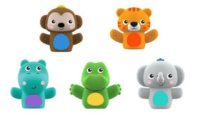 Bright Starts Poppin' Puppets 5 Count Finger Puppets