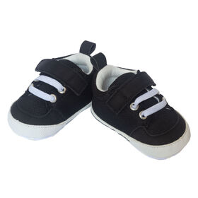 So Dorable Black Hi Top Sneakers size 6-9 months
