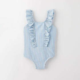 ruffle swimsuit, 12-18m - light blue stripe