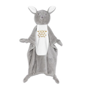 The Peanutshell Mix & Match Grey Deer Security Blanket