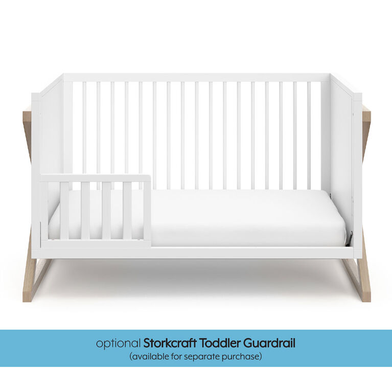 Storkcraft Equinox 3 In 1 Convertible Crib White Vintage
