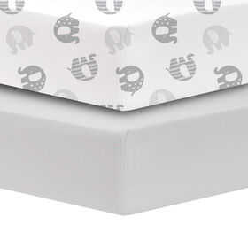 Koala Baby 100 Cotton Percale Fitted Crib Sheet
