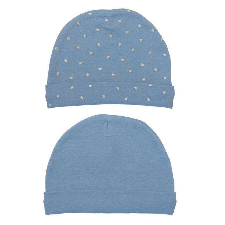 Koala Baby 2 Pack Baby Hats - Blue, size 3-6 months