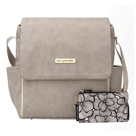 Petunia Pickle Bottom - Boxy Diaper Bag Backpack - Grey Matte Leatherette
