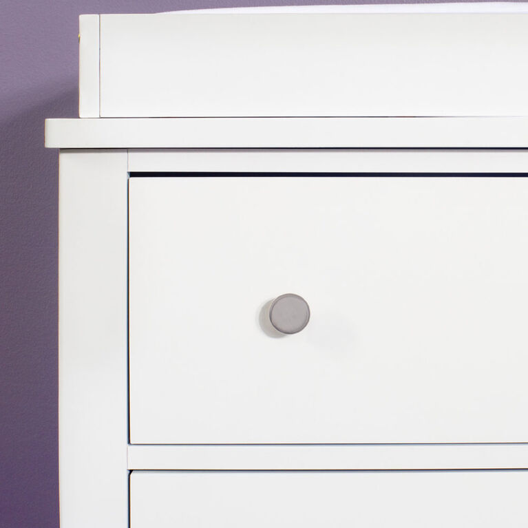 Forever Eclectic Harmony 3-Drawer Dresser with Dressing Kit, Matte White