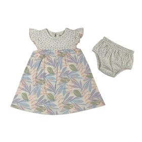 Rococo 2-Piece Dress with Panty Set - Blue, 12-18 Months
