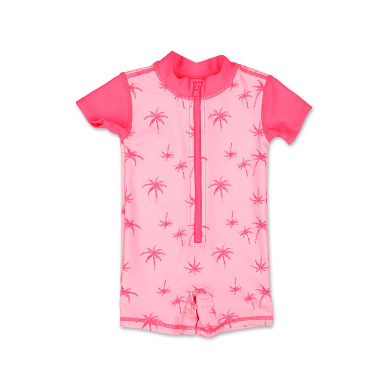 Koala Baby Short Sleeve 1Pc Romper Palm Tree Print