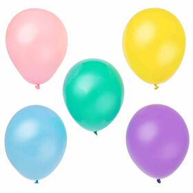 "12"" Latex Balloons, 10 pieces - Assorted Pastel"