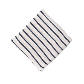 Red Rover - Cotton Muslin Swaddle Single - Navy Stripe - R Exclusive