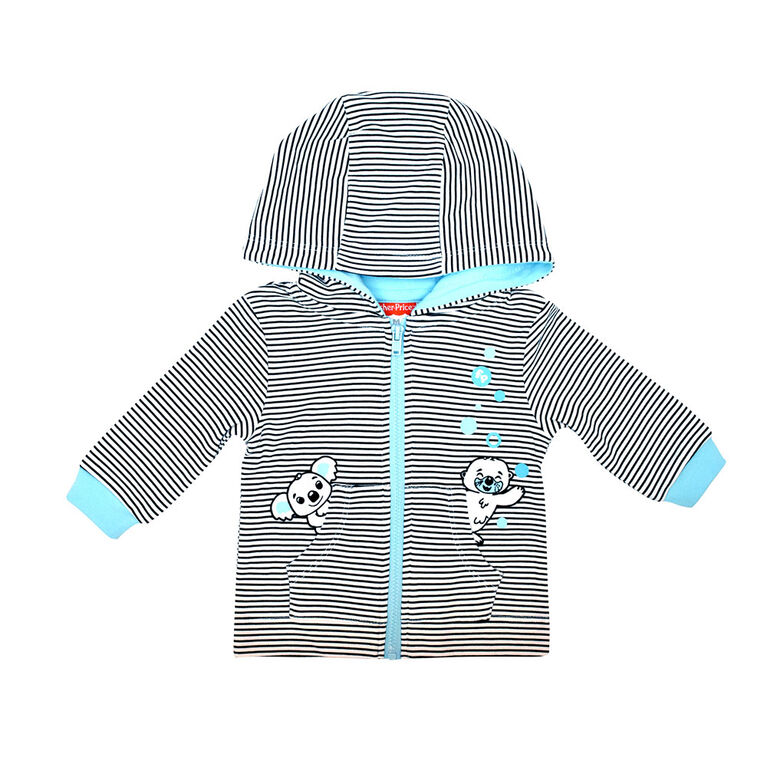 Fisher Price Cardigan à capuche - Bleu, 3 mois