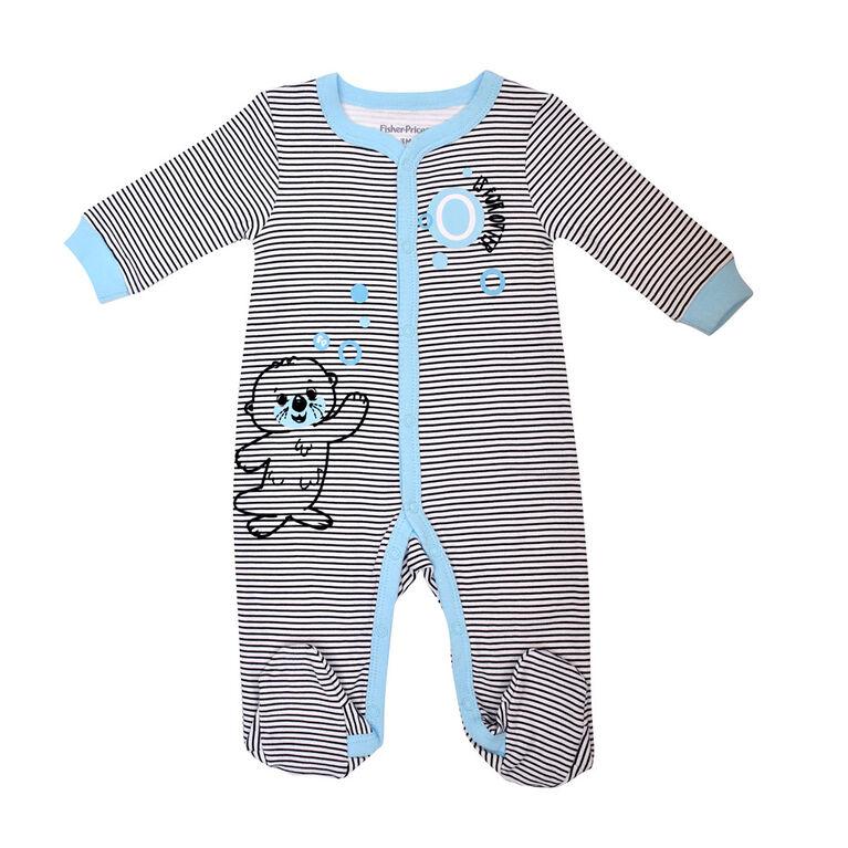 Fisher Price 1 piece Footed Sleeper  - Blue, Newborn